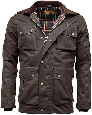 Mens Game Utilitas Wax Jacket
