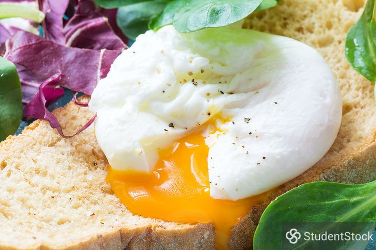"StudentStock - ""Poached egg, close up"" by Vladislav Nosick"