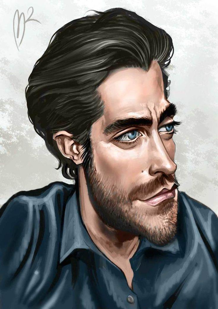 Jake Gyllenhaal Caricature by Marzio Mariani. #Celebrity #Caricatures #Oddonkey