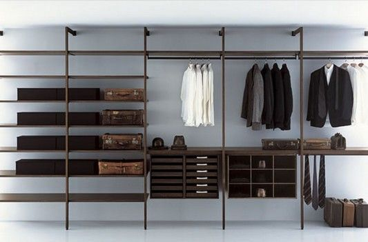 Modern Minimalist Walk-in Closet Innovative Design, Cabina Armadio by Porro | Home Design Inspiration
