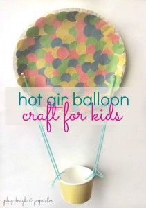 Hot Air Balloon Craft for Kids. Letter H craft. Craft inspired by children's book. Multicultural Children's Book Day