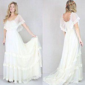 Bröllopsklänning med silkchiffong