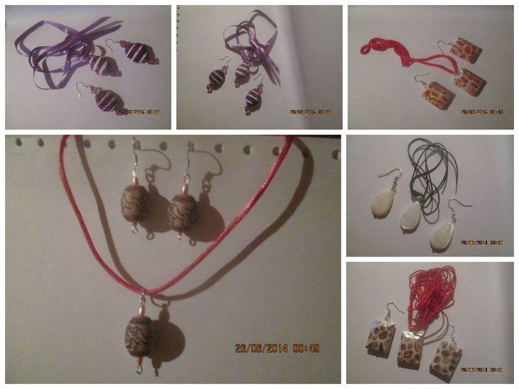 Blogul lui Bogdan si mami: Seturi handmade, colier + cercei 35 lei/set