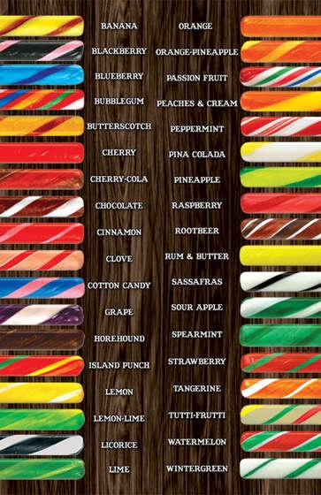 Candy Sticks - These were a childhood favorite.