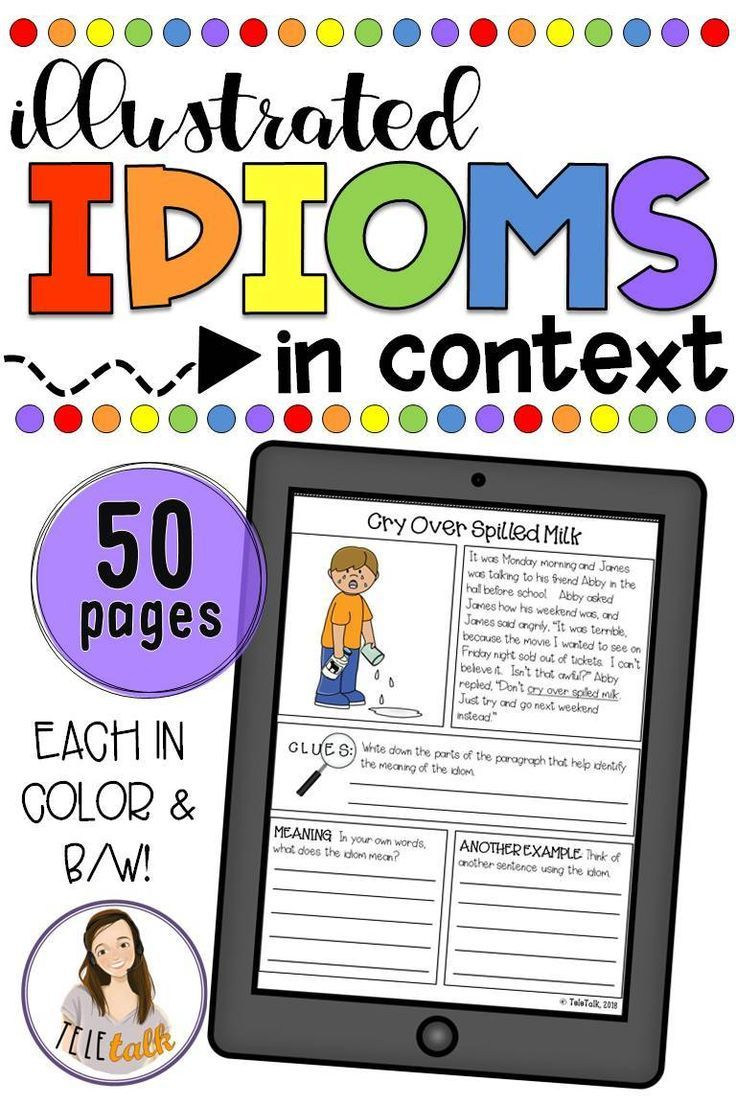Illustrated Idioms in Context | SLP | Speech Therapy
