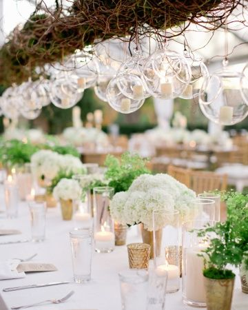 Get the details on this incredible hanging installation marthastewartweddings.com
