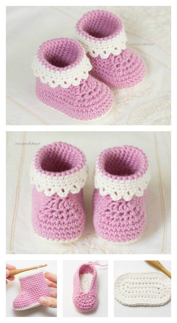 Babyschuhe Häkeln Anleitung Und 23 Reizende Häkelmuster Handmade