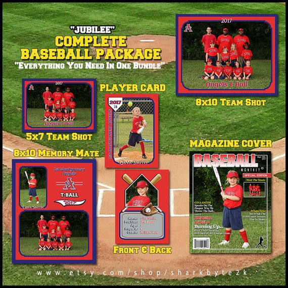 baseball template for photoshop package includes player trading card memory mate magazine. Black Bedroom Furniture Sets. Home Design Ideas