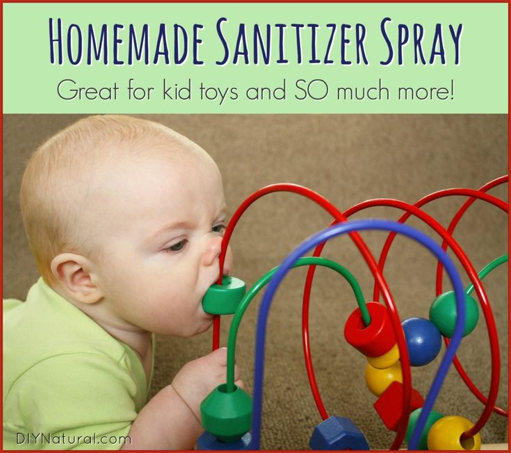 Homemade sanitizer spray natural child toy cleaner more