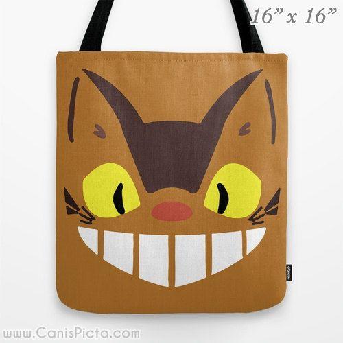 Catbus Chibi My Neighbor Totoro 13x13 Graphic Pop Art Print Tote Bag Anime Kawaii Manga Hayao Miyazaki Studio Ghibli 16x16 18x18 Gift Brown on Etsy, 168,01kr