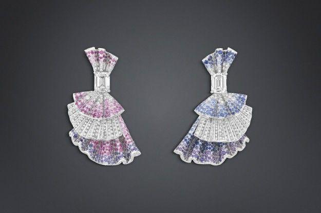 Orecchini con diamanti Archi Dior