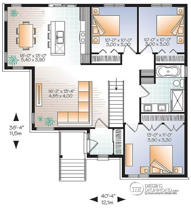 532 best Plans de maison images on Pinterest Construction - plan maison 110m2 etage