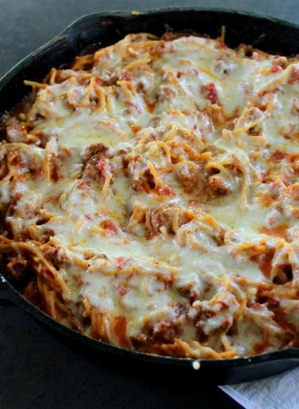 Baked Skillet Spaghetti