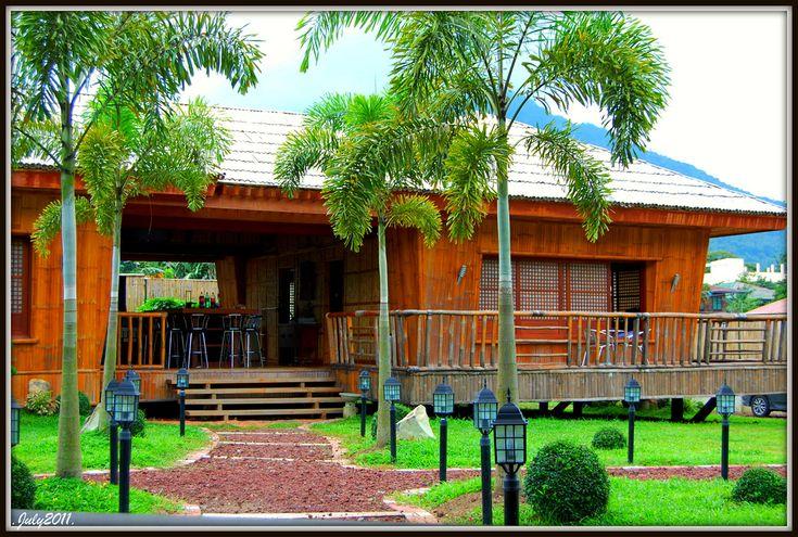 36 best nipa hut images on pinterest bamboo bahay kubo for Modern nipa hut house design