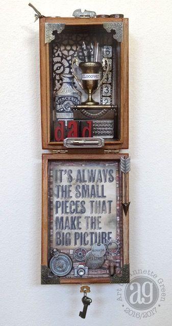 Altered cigar box by Annette Green via Marjie Kemper's Tuesday's Tutorials Blog Series, Week 47