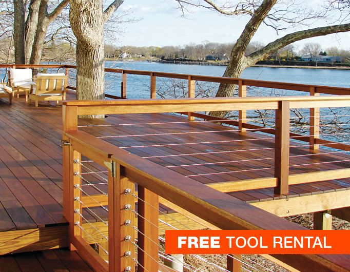 decks with wire cable railings   stainless steel cable railing system for outdoor decks and ...