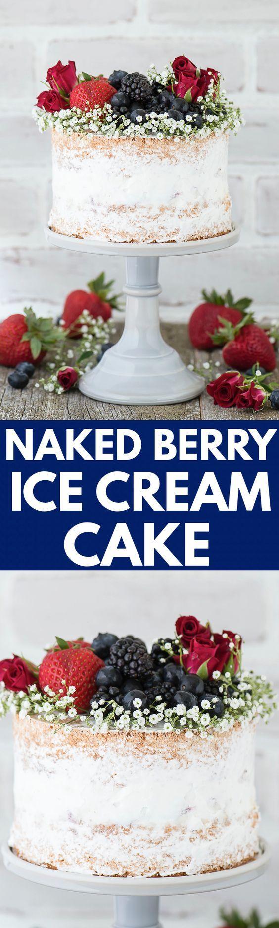 ... vanilla bean cake and a layer of homemade vanilla bean berry ice cream
