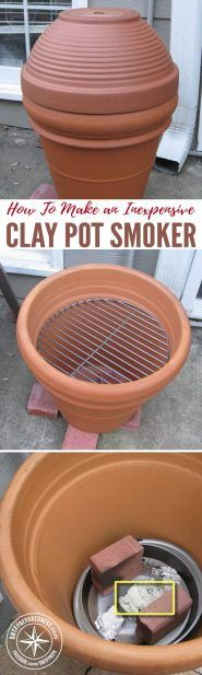 How To Make an Inexpensive Clay Pot Smoker — I love smoked meat! Any time of the year is a good time for smoked meat. However, I do not love how expensive smokers are. Luckily, there are tutorials out there that show you how to make a smoker of your own.