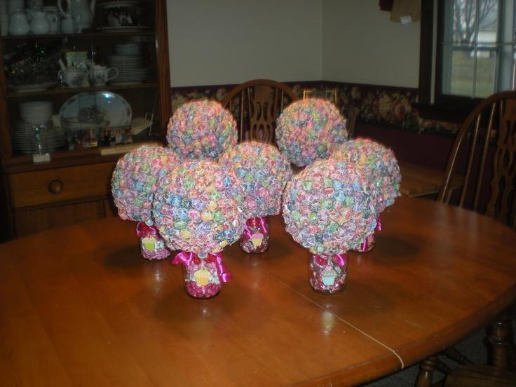 Candy dum mason jar centerpieces gs craft ideas