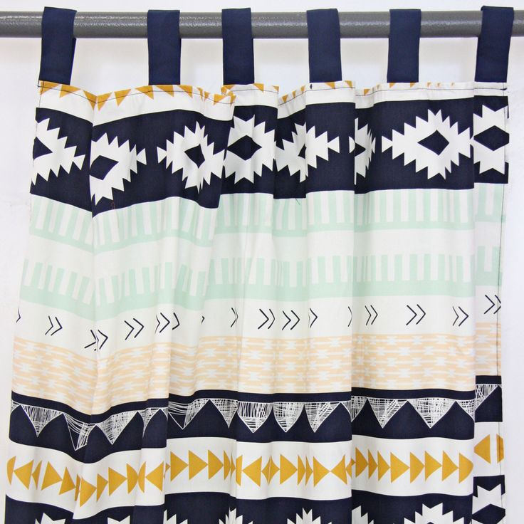 Aztec Gold & Mint Curtain Panels by CadenLaneBabyBedding on Etsy https://www.etsy.com/listing/200057020/aztec-gold-mint-curtain-panels