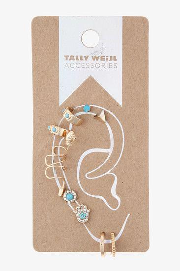#earrings ear piercing set #gift #TALLYWEiJL