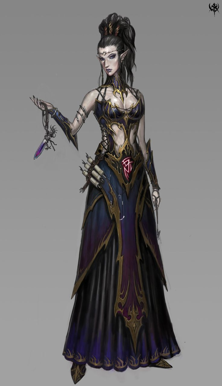 pointiest caster ever. crosspost from my private board for my Ilharess yath'tallar costuming project. for some reason i want to construct it like a lehenga with no dupatta. love the scroll ammo holders