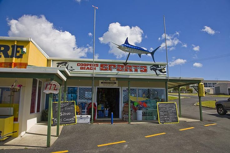 Sports Shop, Coopers Beach, see more at New Zealand Journeys app for iPad www.gopix.co.nz