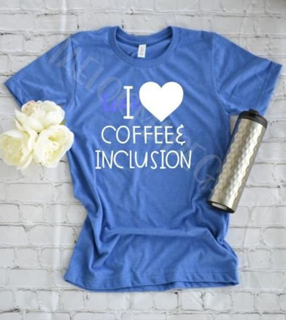 I Love Espresso and Inclusion, Particular Schooling Instructor Shirt, Paraprofessional S…