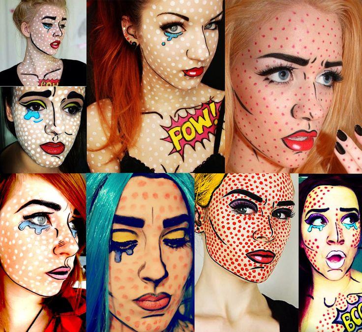 14 best Fun Pop Art Makeup images on Pinterest | Pop art makeup ...