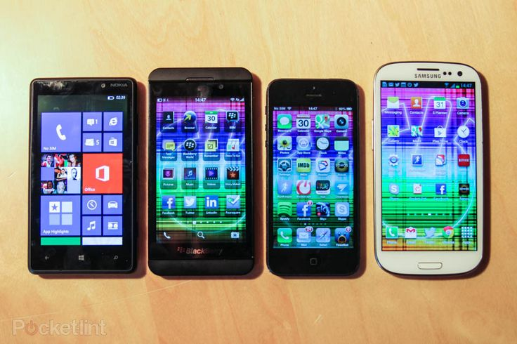 BlackBerry Z10 compared to SGS3, iPhone 5, Lumia 820 (photo) - Pocket-lint