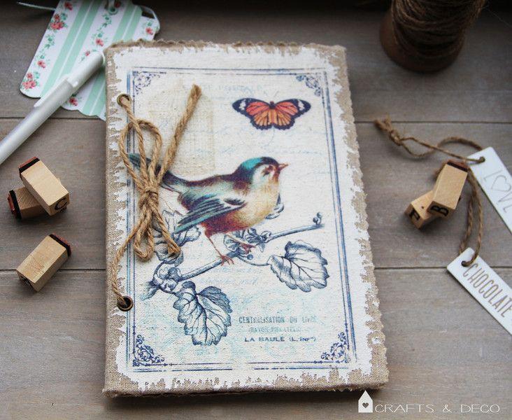 Scrapbook+Vintage+Vogel+von+Crafts+&+Deco+auf+DaWanda.com