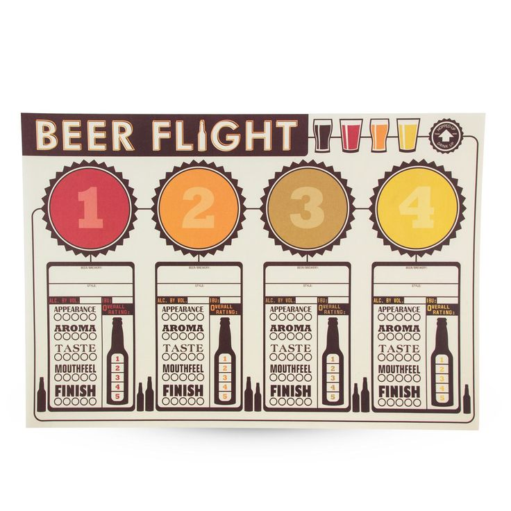 Beer Tasting Party Placemats Pack of 12 - Beer Appreciation Placemats