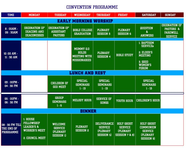 Programme Schedule Rccg 67th Annual Convention 2019 5th 11th August Andgodsaid Perspective Bible College Convention Christian Church