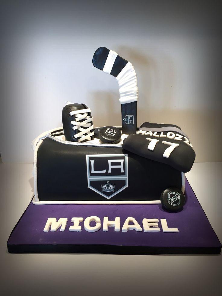 La Kings Hockey Cake