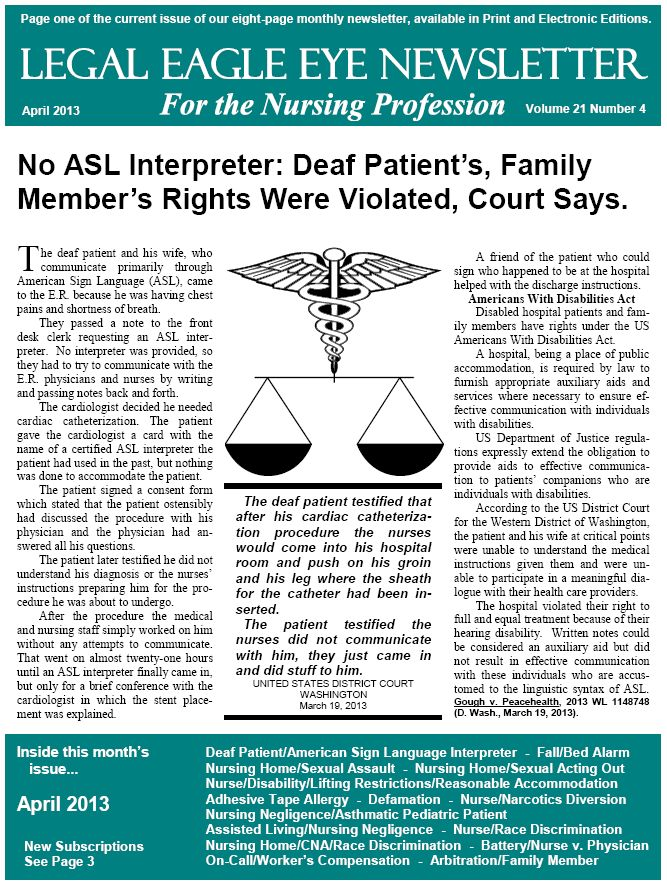 Legal Eagle Eye Newsletter for the Nursing Profession Home Page - certified legal nurse resume
