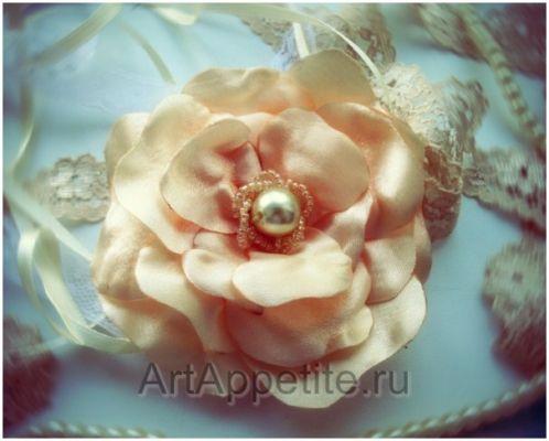 цветок из ленточек