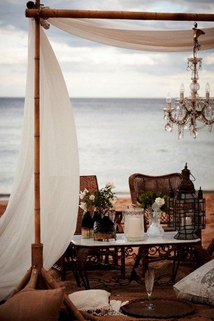 OH MY! boho beach dinner party or wedding!  sigh