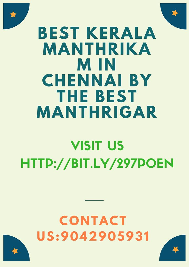 #Kerala #Manthrikam Services in #Chennai for Family Problems Contact us:9042905931 http://bit.ly/297p0En