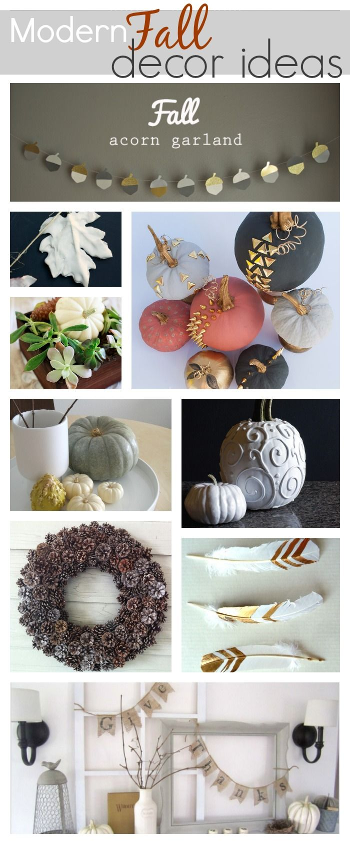 Decorate your house this Fall with modern and neutral decor for an elegant room.
