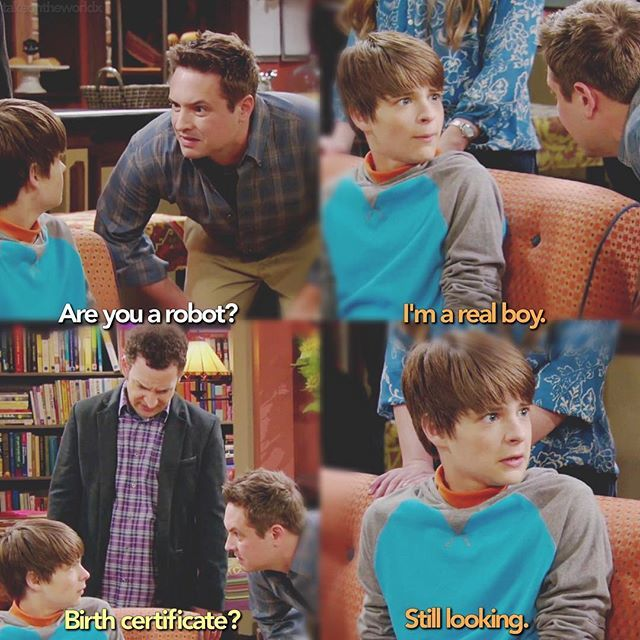 Eric Matthews meets Farkle Minkus. For a kid's show, there are some decent little actors on it.