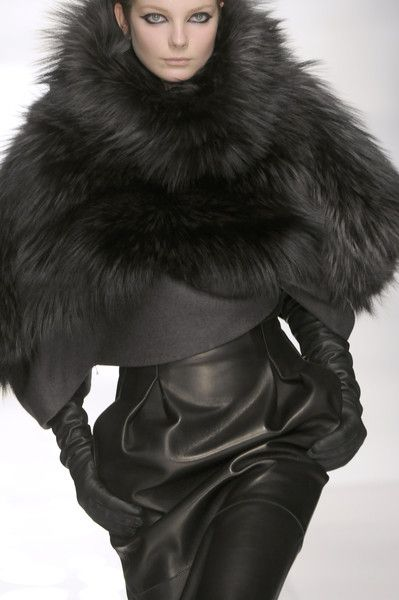 Leather and fur luxe