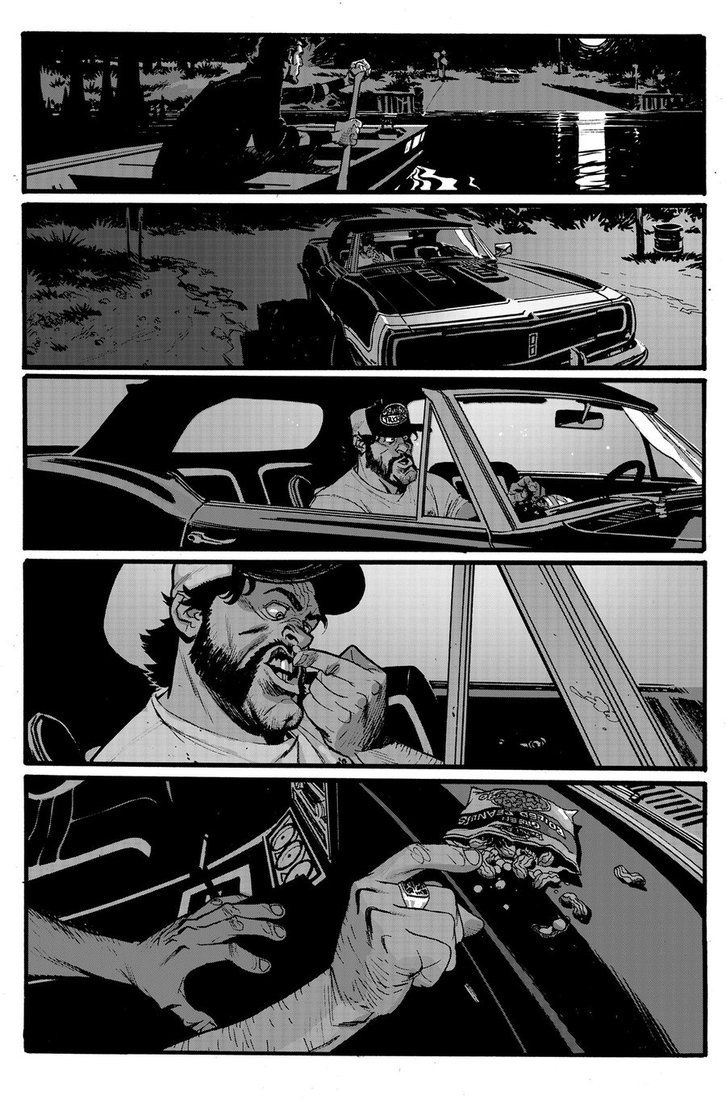 """This is page 3 from """"my brother's keeper"""", a story in issue 2 of The Ride Southern Gothic which should be hitting stores next week. I drew 5 more pages with Toby Cypress drawing 8 pages for the sto..."""