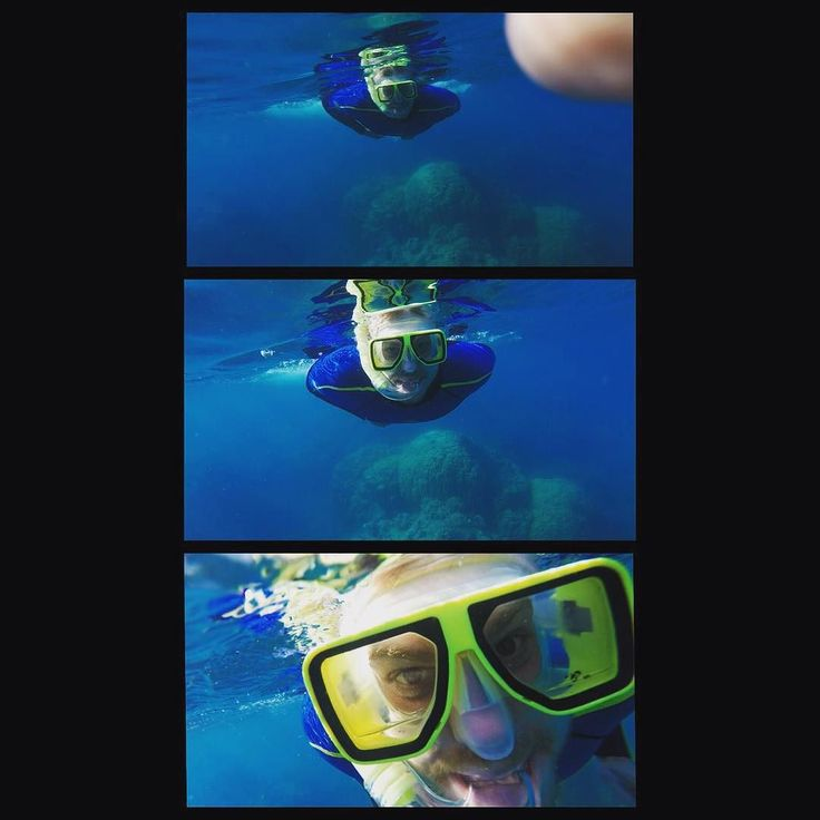 4 weeks ago I was snorking the barrier reef! Now I'm sitting with snow outside t…