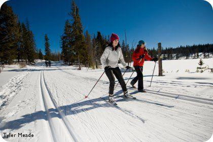 Cross Counrty Skiing at Stake Lake