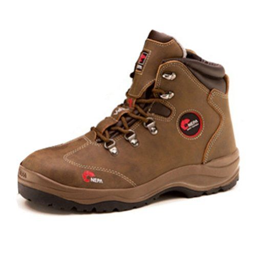 nepa Mens 16n Safety Steel Toe Cap Hiking Boots Brown 6 -- Want additional info? Click on the image.