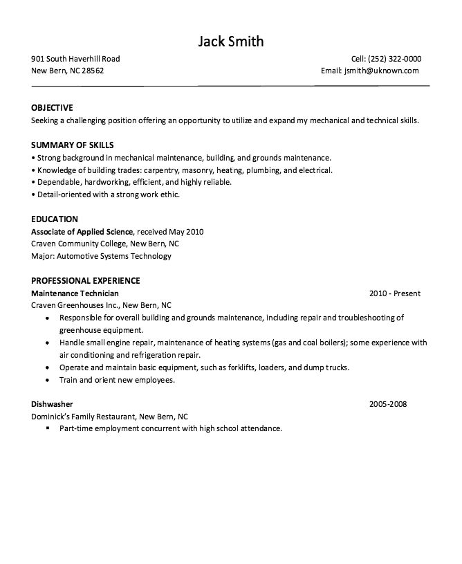 It Repair Sample Resume 23 Best Resumes Images On Pinterest  Sample Resume Dishwasher And .
