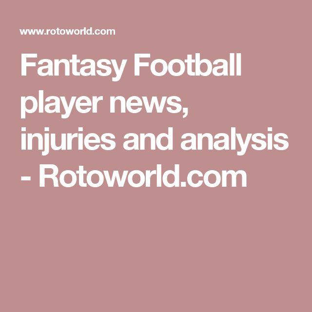 Fantasy Football player news, injuries and analysis - Rotoworld.com