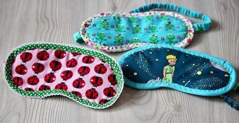 schlafmaske schlafmasken schlafmaske selber n hen kleine geschenke selbstgen ht meine. Black Bedroom Furniture Sets. Home Design Ideas