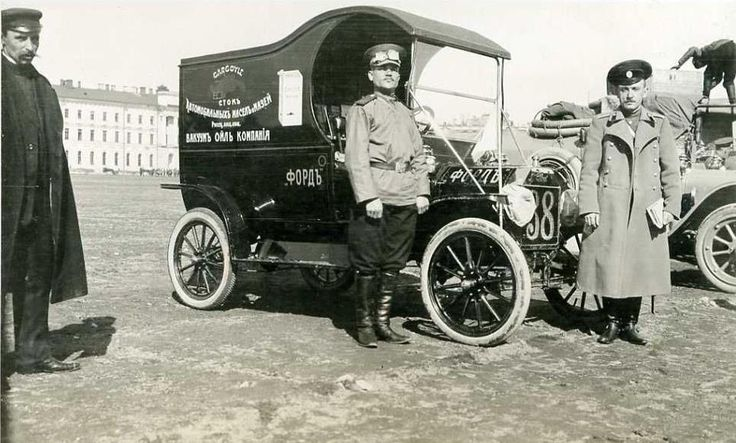 Old Ford Cars >> Model T Ford Forum: Old photo - 1912 van military test run Russian War Department | Model T's ...