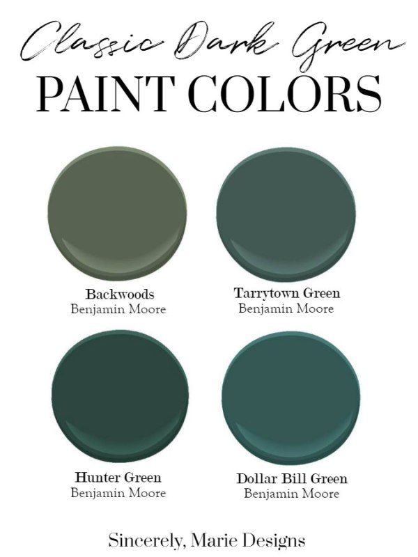 Clic Dark Green Paint Colors New Year Color Huntergreen Cliccolors Darkgreen